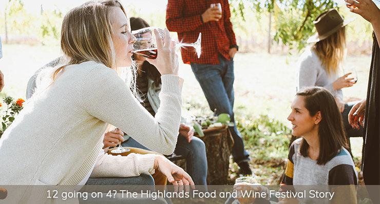 highlands-food-and-wine-festival-friends-drinking-wine-landmark-realty-group